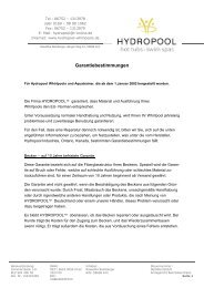 Herstellergarantie - Hydropool-Whirlpools.de
