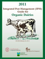 IPM Guide for Organic Dairies - New York State Integrated Pest ...