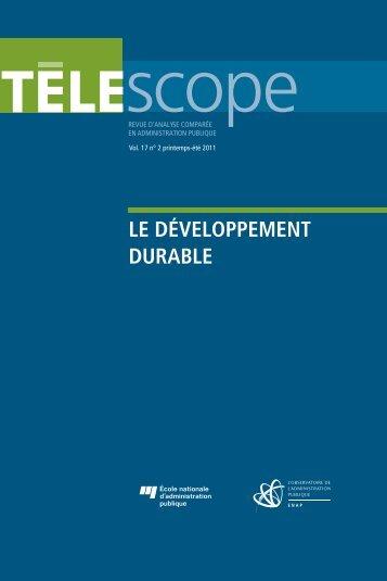 le développement durable - L'Observatoire de l'administration ...