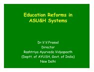 Education Reforms in ASU&H Systems - FICCI HEAL 2013