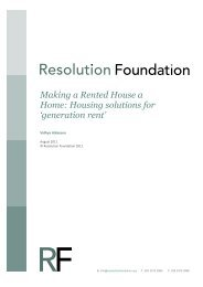 Housing solutions for 'generation rent' - Resolution Foundation