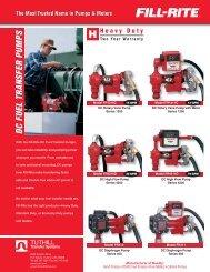 Heavy Duty DC Volt Fuel Transfer Pump Sales Sheet - Fill-Rite