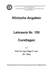 Klinische Angaben Lehrserie Nr. 155 Curettagen - Iap-bonn.de