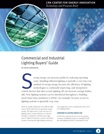 Commercial and Industrial Lighting Buyers' Guide