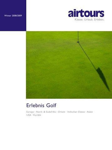 AIRTOURS - Erlebnis Golf - Winter 2008/2009 - tui.com ...