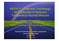 REVIX - Petersen Asphalt Research Conference