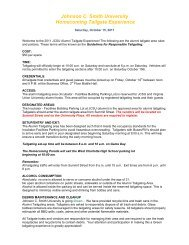 Johnson C. Smith University Homecoming Tailgate Experience