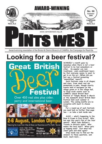 Pints West 66, Summer 2005 - Bristol & District CAMRA