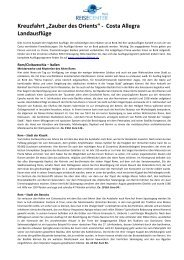 Übersicht Landausflüge - Ferienpost - Ferienvielfalt aus einer Hand