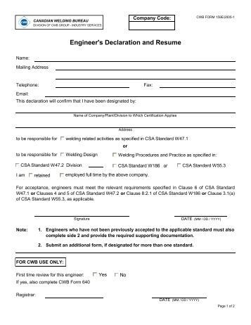 is declaration required in resume 28 images