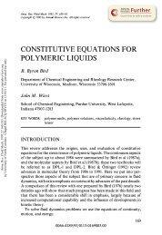 Constitutive Equations for Polymeric Liquids