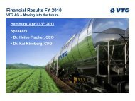 Financial Results FY 2010 - Investor Relations - VTG AG