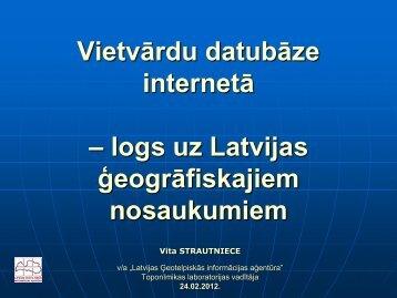 Vietvārdu datu bāzes - LIKTA