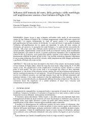 Influenza dell'intensità del moto, della geologia e ... - Regione Molise