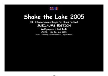Shake the Lake 2005