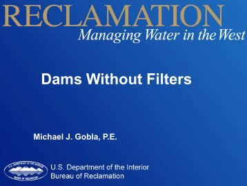 Dams Without Filters