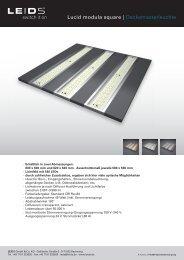 Lucid modula square | Deckenrasterleuchte - LEIDS