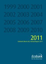 Ecobank Liberia Ltd, Annual Report 2011