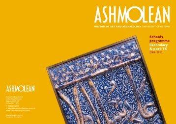 Schools programme Secondary & post-16 - The Ashmolean Museum