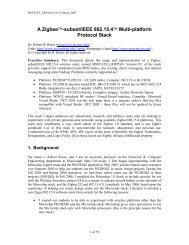 A Zigbee-subset/IEEE 802.15.4 Multi-platform Protocol Stack