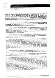 anuncio sobre aprobación de la lista provisional de admitidos y