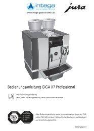 Bedienungsanleitung GIGA X7 Professional - Jura