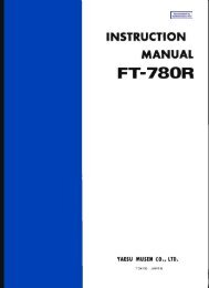 Yaesu - FT-780R user manual - RadioManual.eu