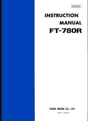 Yaesu Ft 2800m users Manual
