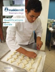 Qualifications Guide - Ruskin Mill Trust