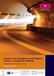 Enterprise risk management and budgetary control: a ... - CIMA