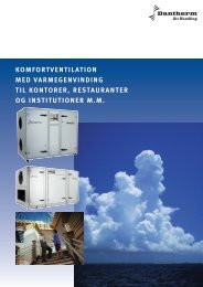 Dantherm ventilation VentR og VentC
