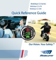 Quick Reference Guide - Mobileye