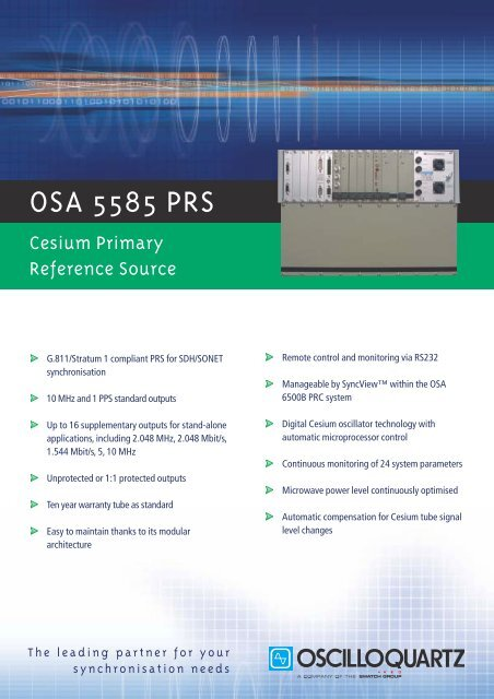 OSA 5585 PRS - Primary Reference Source