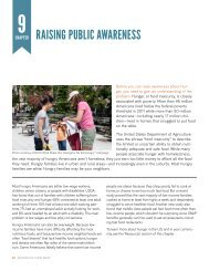 raising public awareness - New York City Coalition Against Hunger