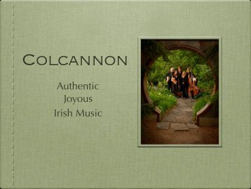 Download Colcannon promo as a PDF