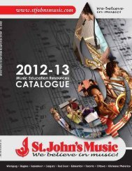 Teacher Resources - St John's Music
