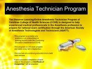 Anesthesia Technician Program - Carolinas HealthCare System
