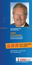GerD hOchmAnn - CDU Oldenburg