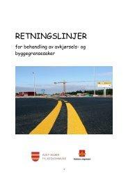 Retningslinjer for behandling av avkjørsels- og byggegrensesaker