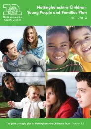 Nottinghamshire Children, Young people and Families Plan 2011 ...