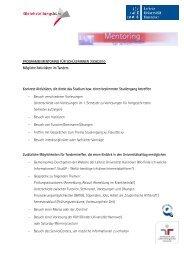 PROGRAMM MENTORING FÜR SCHÜLERINNEN 2009/2010 ...