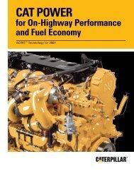 On-Highway Performance and Fuel Economy - Toromont CAT
