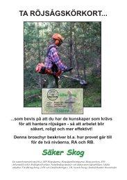 Infobroschyr Röjsågskörkort 100813 f webb.indd - Säker Skog