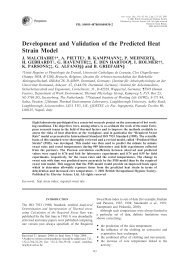Development and Validation of the Predicted Heat Strain Model