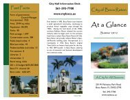At a Glance - City of Boca Raton
