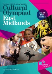 Cultural Olympiad East Midlands - Arts Council England
