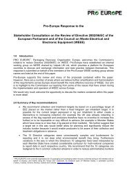 review Directive 2002/96/EC on WEEE - PRO Europe
