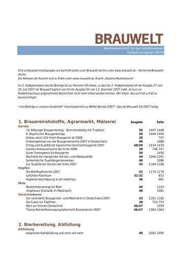 2007/II - Fachverlag Hans Carl - Fachverlag Hans Carl GmbH
