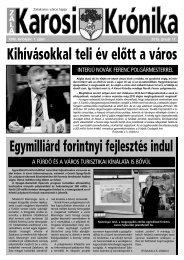 2013. január 17-i szám - Zalakaros