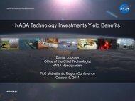 NASA Technology Investments Yield Benefits - FLC Mid-Atlantic ...